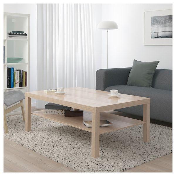 Lack Mesa De Centro Efecto Roble Tinte Blanco 118x78 Cm Ikea Table Basse Table De Salon Ikea
