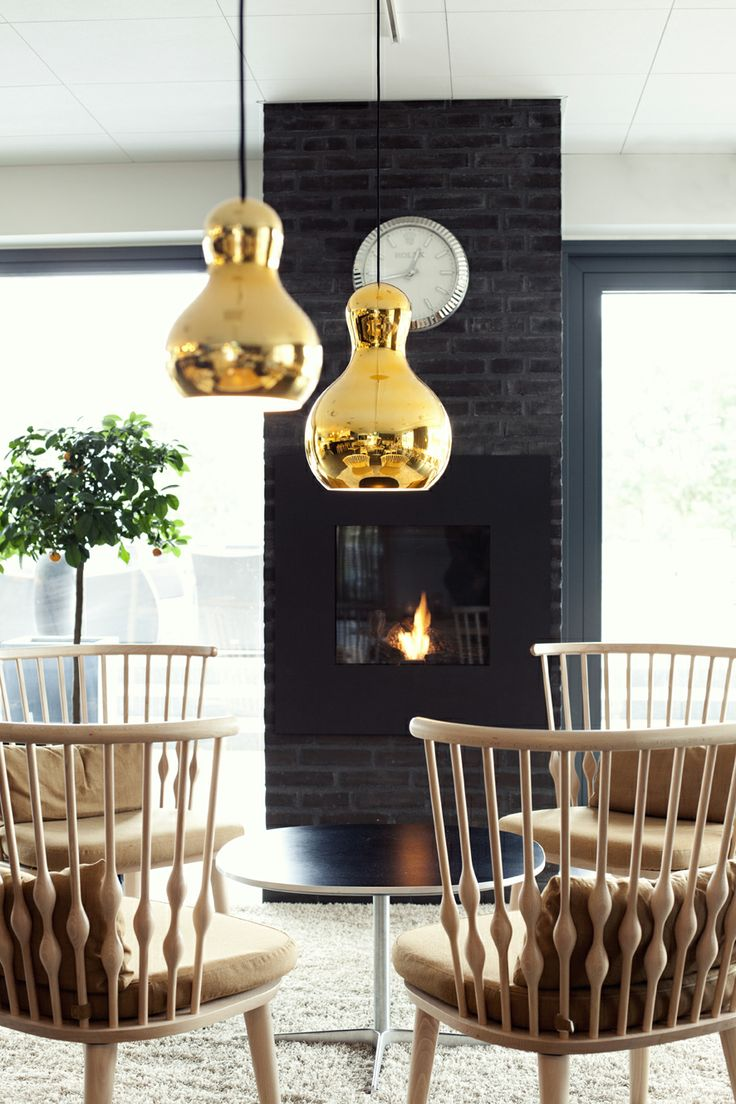 Golden glamour and a cosy atmosphere at Lübker Golf Resort http://www.lightyears.dk/lamps/pendants/calabash-gold.aspx