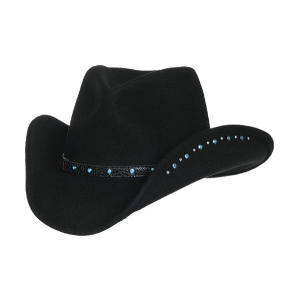 Women's Master Hatters of Texas Gem (3.470 RUB) ❤ liked on Polyvore featuring accessories, hats, black, cowboy hats, western hats, cowgirl hats, studded hat, cowboy hat and hat bands cowboy hats