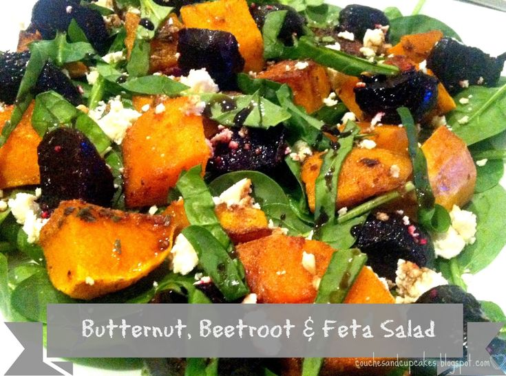 Couches and Cupcakes: Easy Butternut, Beetroot and Feta Salad