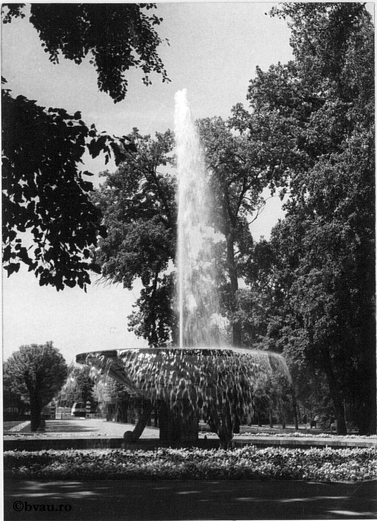 """Grădina publică, 1969, Galați, România. Imagine din colecțiile Bibliotecii """"V.A. Urechia"""" Galați."""