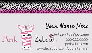 Pink Zebra business card PRINTED 500, Pink Zebra sprinkles card, Pink Zebra…