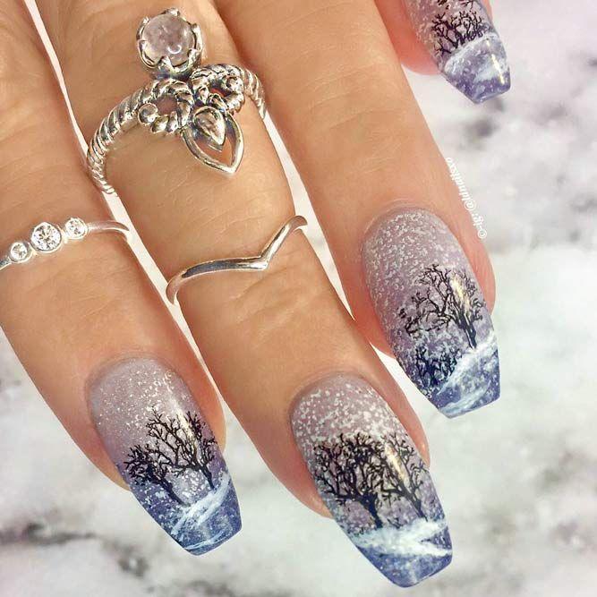 Нарощенные ногти к новому году картинки