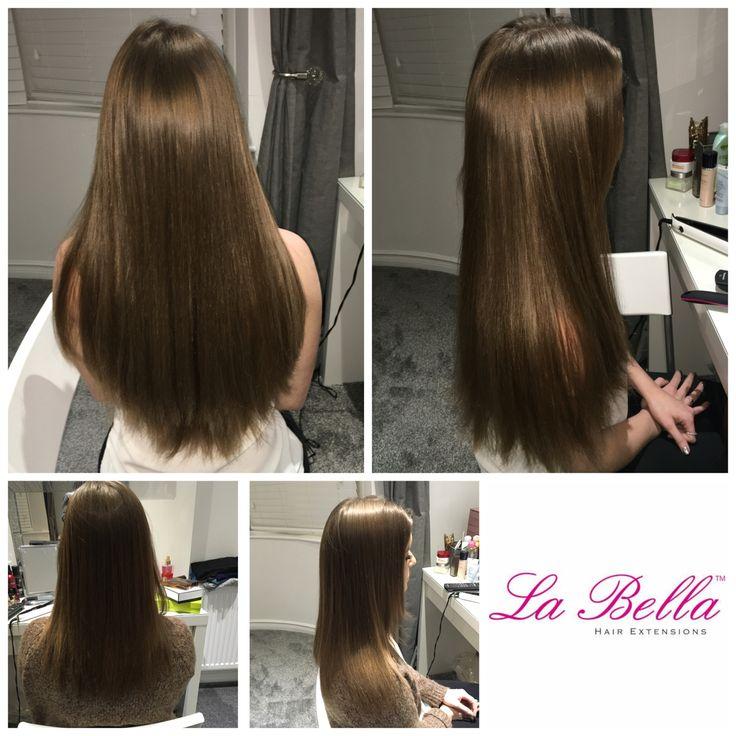 122 best la bella nano ring hair extensions before and after full head of medium brown 18 hand made la bella nano tips 409 pmusecretfo Images