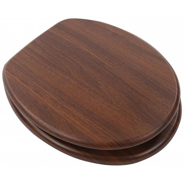 Astini Walnut MDF Veneer Toilet Seat With Chrome Metal Hinges (now £25.99 saving £10.00)