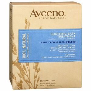 Aveeno Soothing Bath Treatment, Single Use Packets. Any kind of skin irritation, take a dunk in this. Your skin will thank you!
