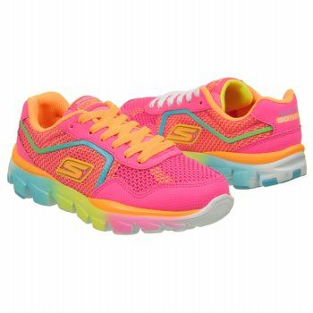 Skechers  Kids' Go Run Ride at Famous Footwear  Katy's new fun neon multicolor shoes.  They are perfect for her.