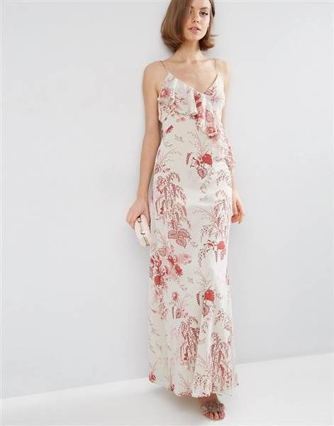 Wear this floral printed ASOS long dress all summer. It will look great with flip flops or strappy sandals.