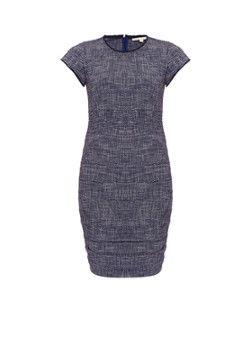 Maje Rought jurk met gesmokte fit en gerafelde details