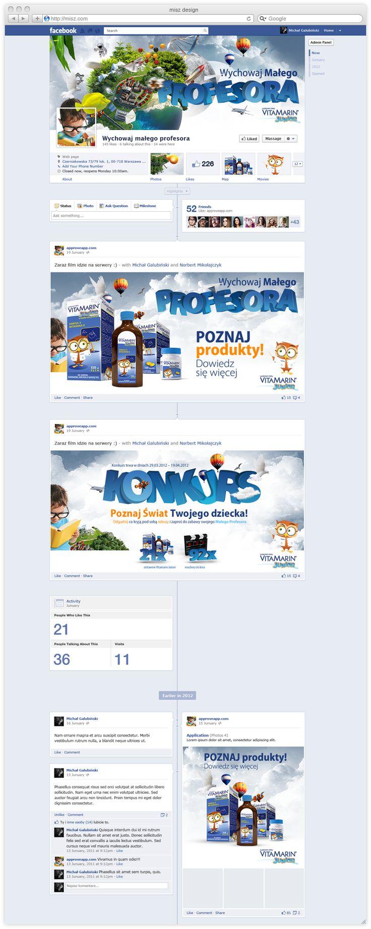 VitaMarin, wychowaj małego profesora – facebook fanpage | misz michal galubinski design