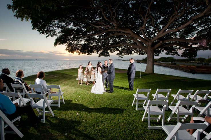 Wedding Ceremony And Reception At