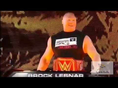 Brock Lesnar Returns And Face Samoa Joe First Time