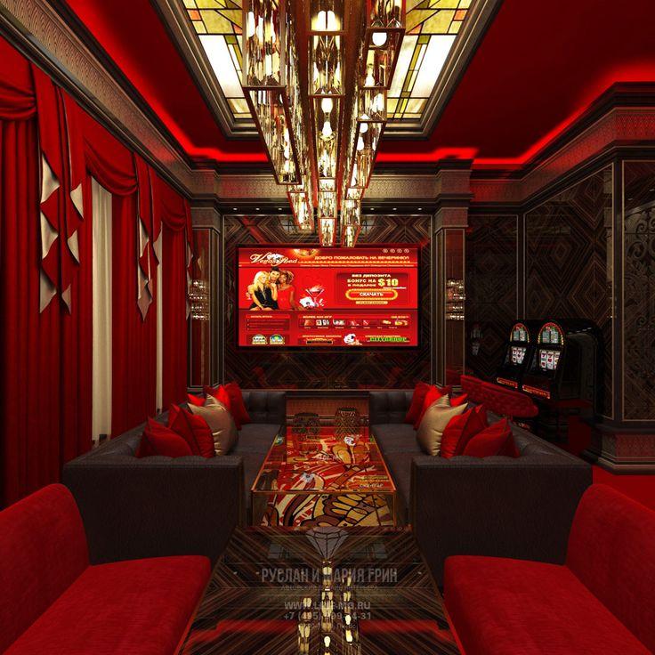 Дизайн-проект VIP казино в стиле ар-деко