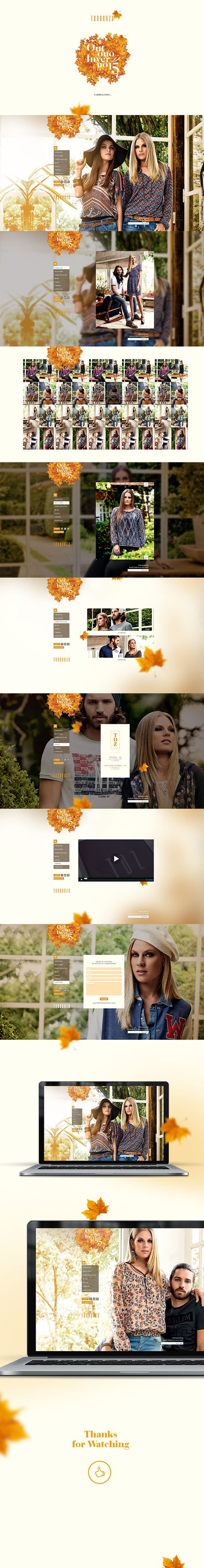 Site - Winter Collection 2015 - Tendenza on Behance web design fashion