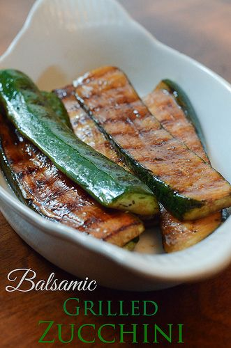 Balsamic Grilled Zucchini - From Valerie's Kitchen