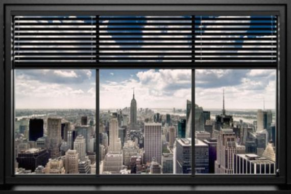 New York - Widok z okna - plakat