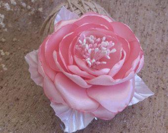 Blush Bridal hair flower-pink Flower Bridal Head Piece-Blush Bridal Flower Hairclip,Flower Fascinator,Flower Bridesmaids,Wedding Headpiece