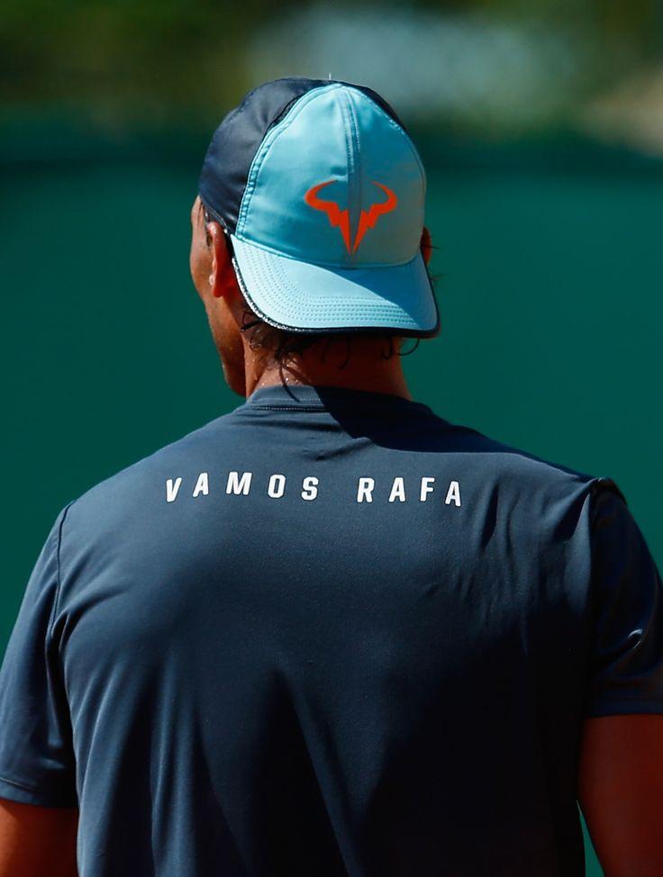 Rafael Nadal, pre-tournament practice in Monte Carlo, April 2015. Photo: Julian Finney