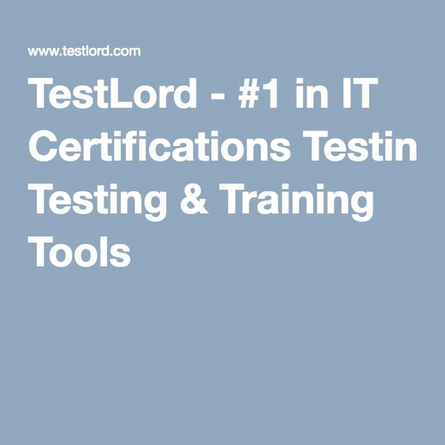 TestLord - #1 in IT Certifications Testing & Training Tools