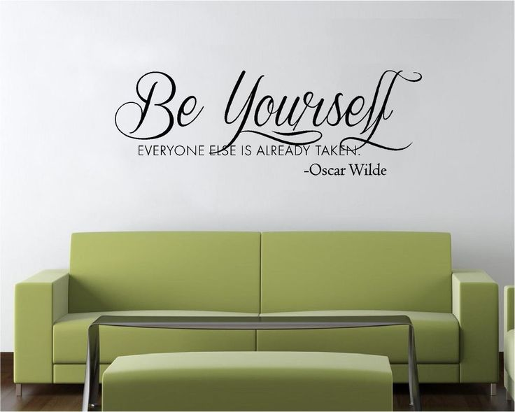 172 best vinyl wall decal quotes images on pinterest for Art and decoration oscar wilde