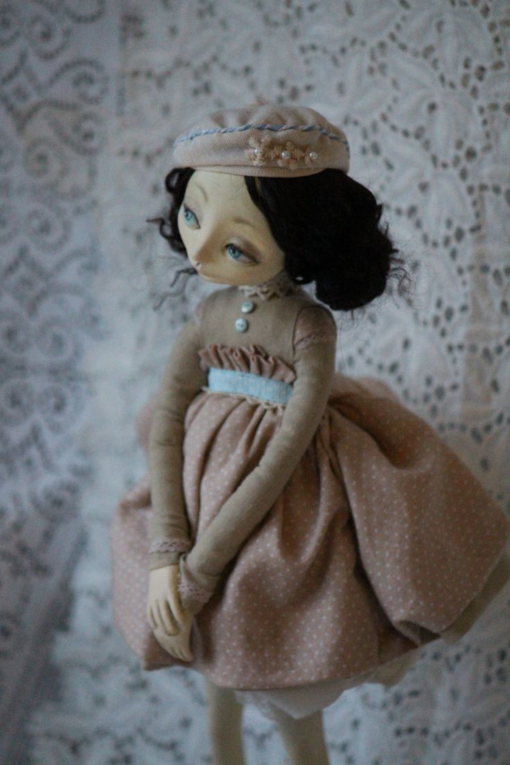 OOAK Art doll. Paperclay
