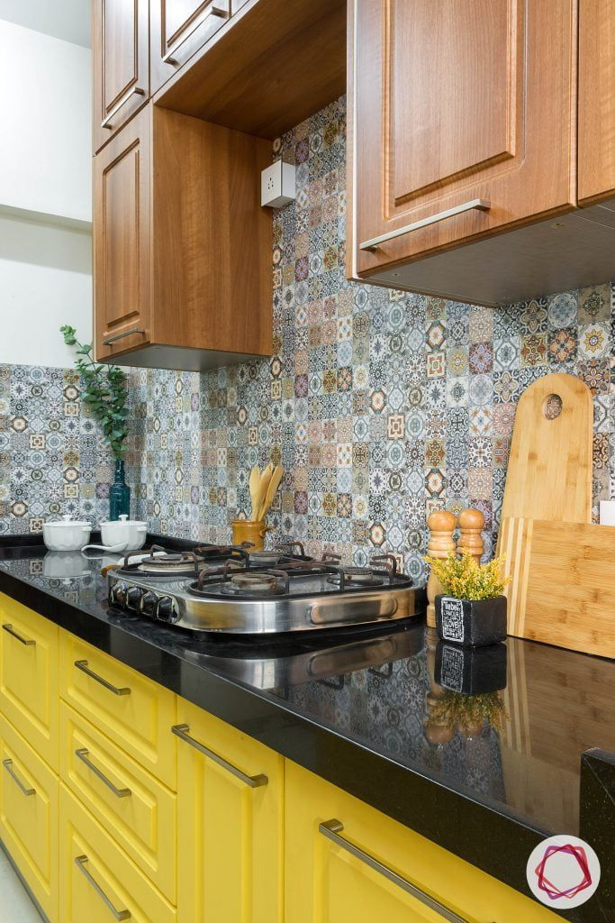 This Vastu Compliant Kitchen In Bandra Is High On Storage Kitchen Tiles Design Kitchen Design Small Kitchen