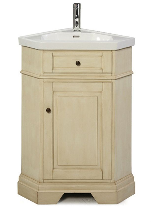 Corner Bathroom Vanities Richmond Corner Vanity Combo Parchment Includes Vanity Top Bowl And