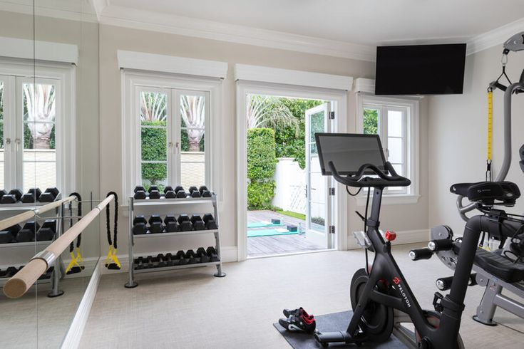 Tour A Luxurious Waterfront House In Palm Beach Florida Gym Room At Home Home Home Gym