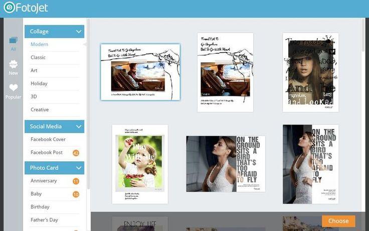 FotoJet es una página gratuita donde podemos usar nuestras fotografías para crear collages, tarjetas de felicitación, covers para Facebook y mucho más.