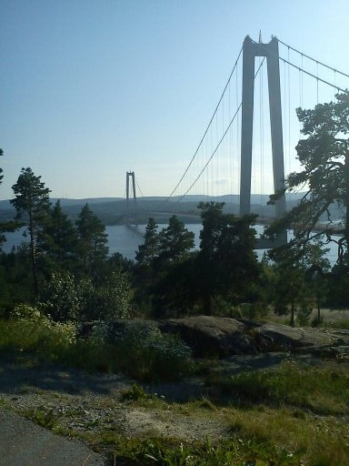 The beautiful mountainous High Coast, UNESCO listed, Ångermanland county. My past home corners, near the bridge | Höga Kusten Bron, Sweden.