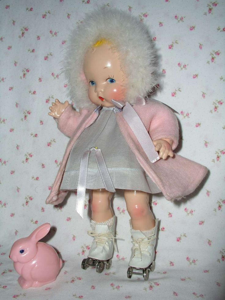 "Harriet Flanders 1937 Compo 12"" LITTLE CHERUB Baby --Made by Averill Doll Co. Designed by Harriet Flanders who originally wrote ""Little Cherub"", and the doll was designed to accompany the book! Mint!!"