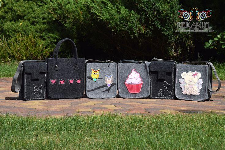 Dziecięce torby filcowe w różnych wzorach. Rekami.pl