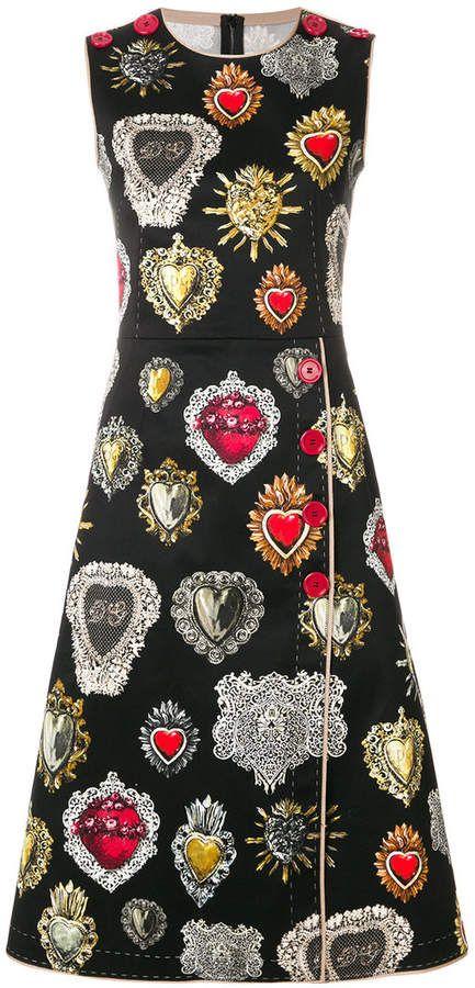 7407b13188 Dolce   Gabbana sacred hearts dress