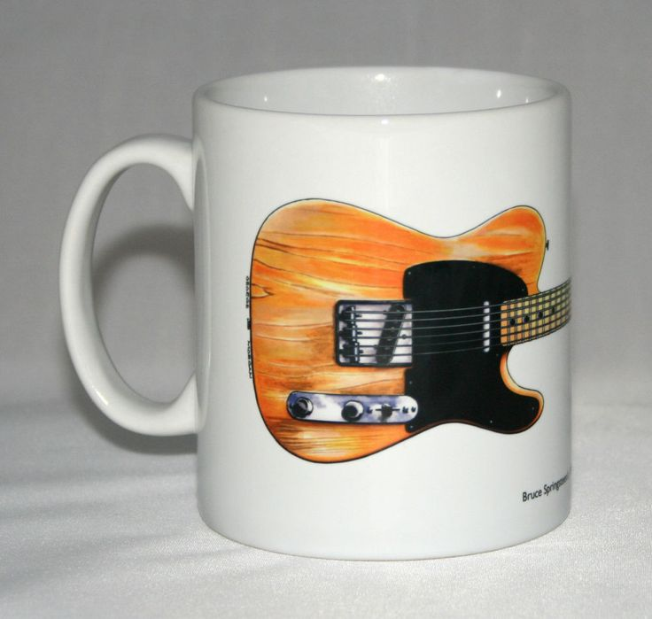 Guitar Mug. Bruce Springsteen's 1950's Fender Esquire illustration. in Collectables, Kitchenalia, Mugs | eBay