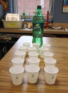 teaching mimicry in nature through soft drinks! this looks like it would have been such an enaging lesson.