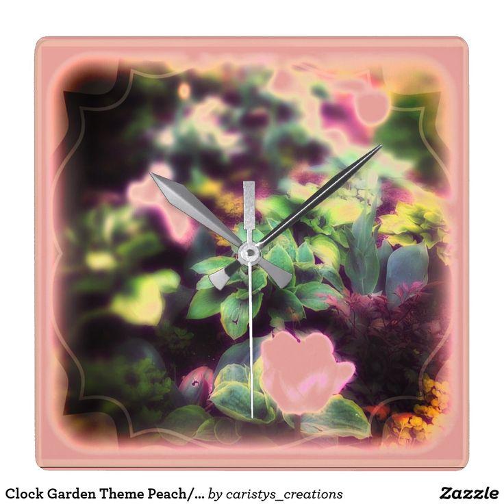Clock Garden Theme Peach/Blush/Green