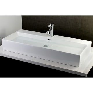 Shop for Contemporary Large 39-inch Elongated Vessel Bathroom Sink. Ships To Canada at Overstock.ca - Your Online Home Improvement Outlet Store!  - 21804020