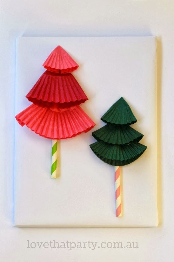 DIY Paper Christmas Tree Gift Toppers So Easy Use Cupcake Patty Pans