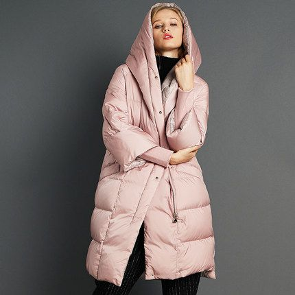 2016 new hot winter Warm Thicken woman Down jackets Coats Parkas Outerwear Hooded long plus size 2XXL luxurious Loose Windproof