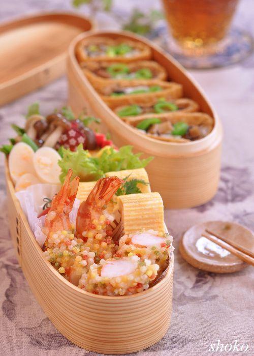 リメイクしやすいレンコン入りひじきの五目煮と海老のあられ揚げのお弁当|やさしい時間♪