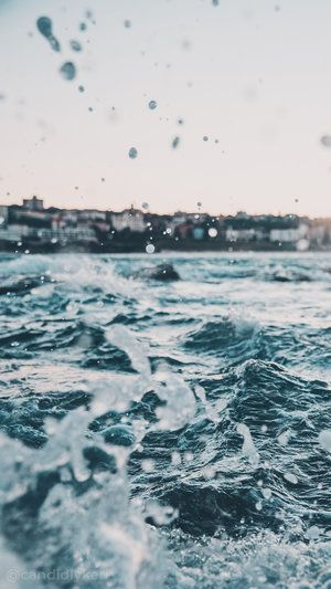 Waves Crashing Ocean summer background wallpaper y…