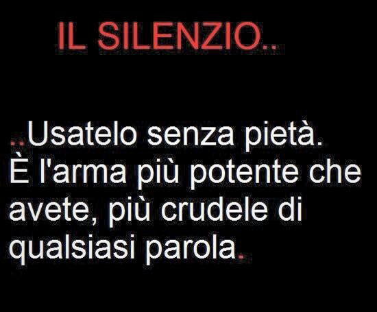 Il silenzio