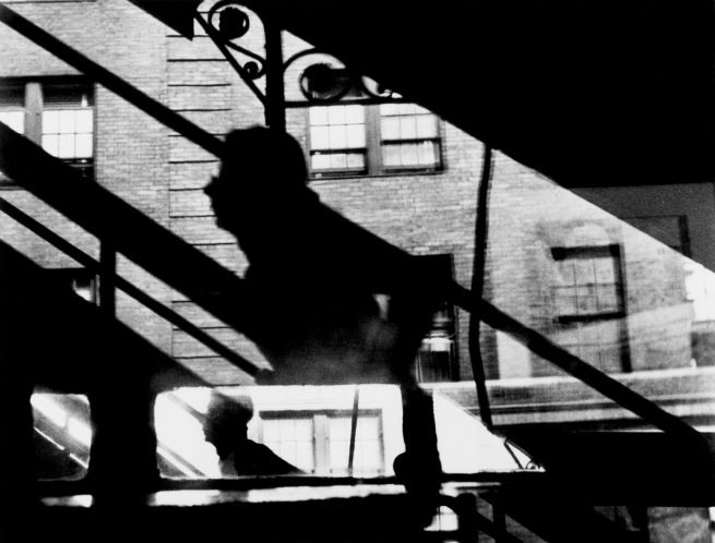 """Louis Faurer. '""""Win, Place, and Show"""", 3rd Avenue El at 53rd Street, New York, New York' c. 1946-1948"""