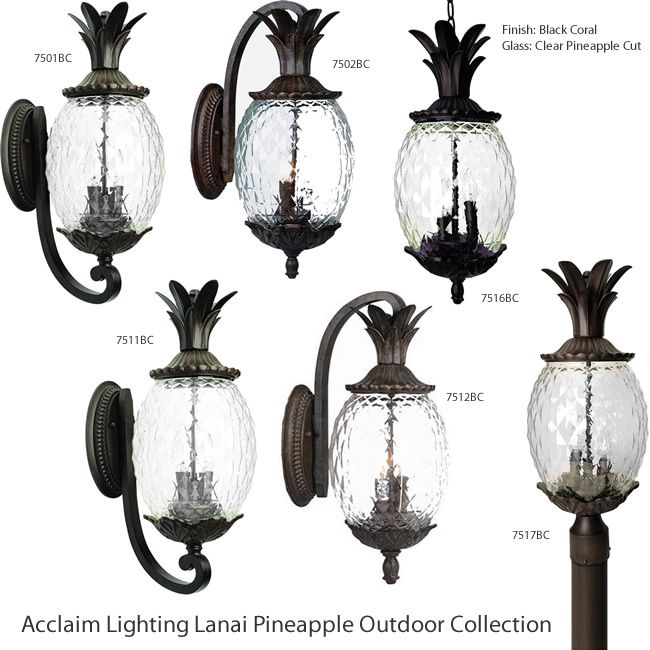 Acclaim Lighting Lanai Pineapple Outdoor Collection The Lanai Pineapple Collection By Acclaim Lighting Feature Wall Mount Lantern Acclaim Lighting Post Lights