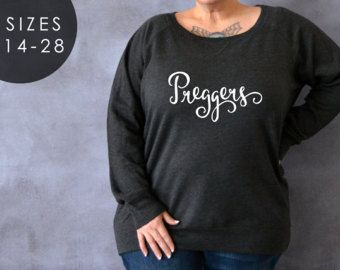 6f8432705 Preggers Shirt, Plus Size Maternity Shirt, Plus Size Sweater, Gift for  Wife, Eating for Two, Napping for Two, Pregnancy Reveal, …