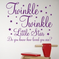 Twinkle, Twinkle Little Star, Do you know how loved you are?  Beautiful wall sticker from £8.99