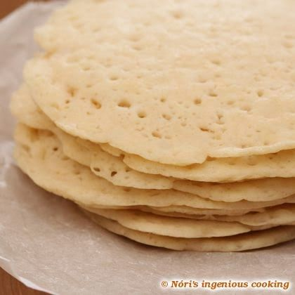 Nóri's ingenious cooking: Appam - Indian coconut pancakes/flatbread (#glutenfree, #eggfree, #vegan #recipe)