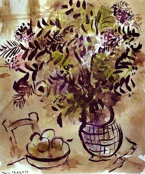 Still Life with Vase of Flowers Marc Chagall