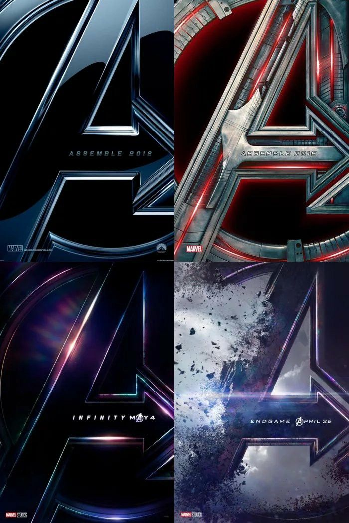 The Posters For Avengers Series Including Endgame Marvel Ous