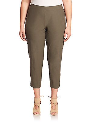 Eileen Fisher, Plus Size Solid Cropped Pants